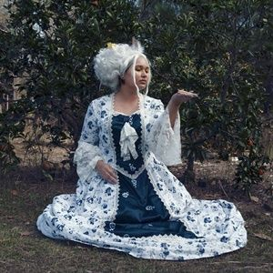 Rococo women's dress